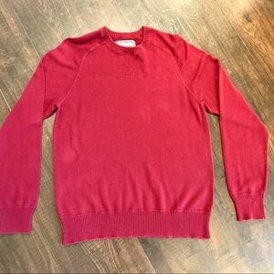 Aeropostale Men's Dark Red Crewneck Sweater (M)